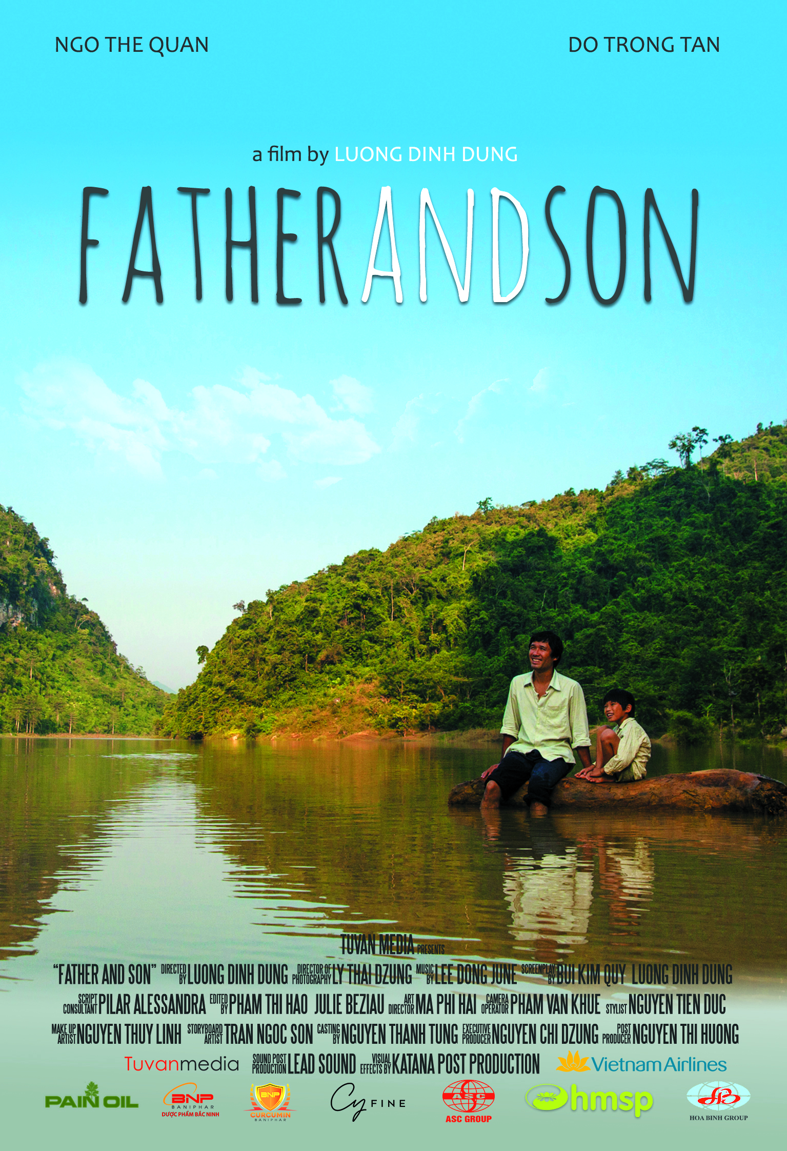 Father and son Postcard (Front side)